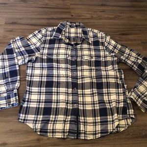 Chaps Blue Plaid Button up size large